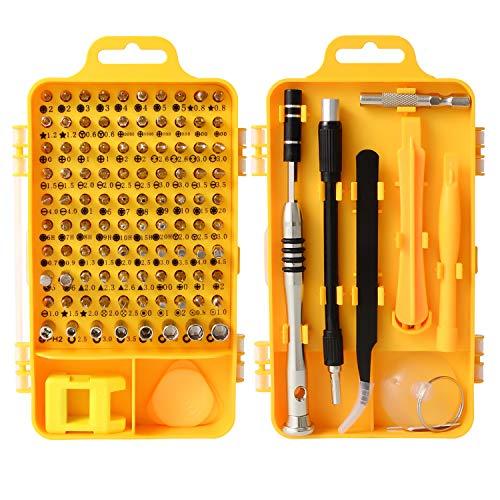 Schraubendreher-Set - 110 in 1 kleines Multischraubendreher-Set magnetischer Mini-Präzisions-Schraubendreher für iPhone Watch, Elektro, Brillen, Laptop, Computer Reparatur (Computer-magnetischen Schraubendreher)