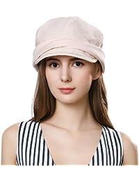 dab09406 Ladies Summer Baker Boy Cap Newsboy Hats Visor Beret Sun Hat for Women  Casual Cloche Peak