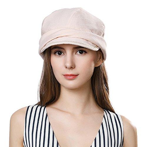 SIGGI SIGGI Faltbare Schirmmütze Damen Packbare Sommermütze Newsboy cap Beige