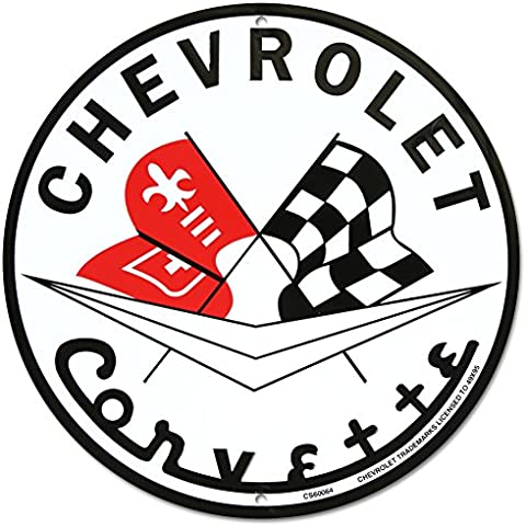 Chevrolet Corvette Metal Sign by Tromic Gifts