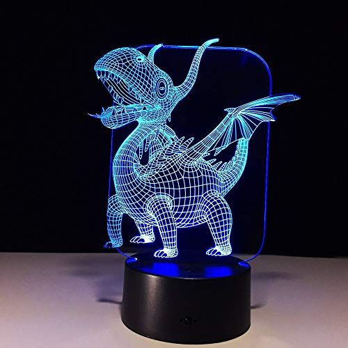 Lampe 7 Farbe Monster Led Nachtlampen Für Kinder Touch Led USB Tischlampe Baby Schlafen Nachtlicht Neuheit Lampe ()
