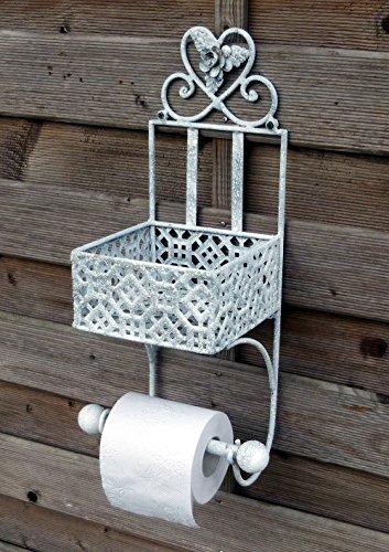 5. More Decor De WC Toilettenpapierhalter Rollenhalter Klorollenhalter  Papierrollenhalter Badregal Aus Metall Eisen Landhaus Shabby Chic Vintage  Antikweiss ...