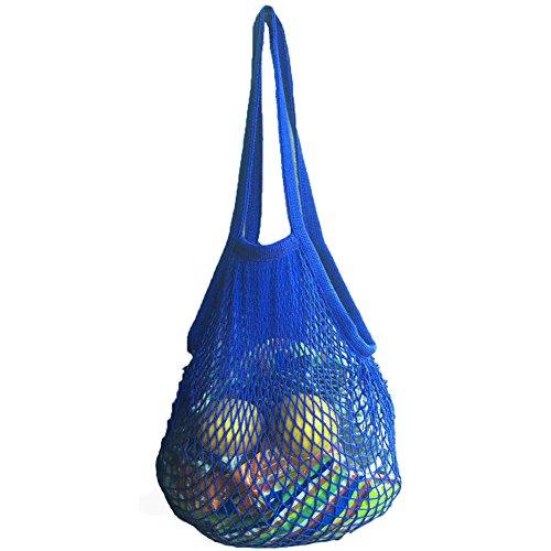 Einkaufsnetz Netze Tasche Kartoffelsack für Sandspielzeug, Obst, Gemüse, Blau