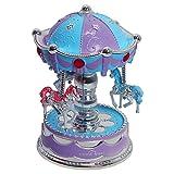 Sidiou Group Kreatives Karussell Modell Spieluhr mit LED Licht Mechanisch Lovely Spieluhr Romantische Spieluhr Retro Spieluhr