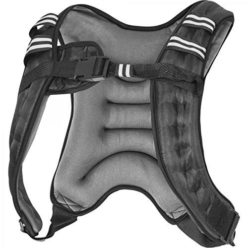 GORILLA SPORTS Gewichtsweste X-Style | Laufweste | Weight Vest | Schwarz/Grau | 5-10 KG Farbe 5 KG