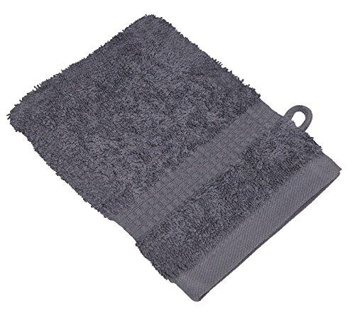 starlabels Serviettes Disponible en 15 couleurs et 5 dimensions doux saugstark 500 g/m², 100% coton, Coton, gris argenté, 15 cm x 21 cm
