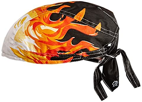 Zan Headgear ZSG032 Road Hog Flydanna 100 Percent Cotton Airbrushed Flames