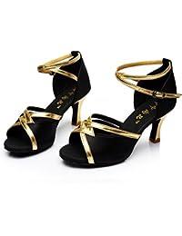 6539d503 GUOSHIJITUAN Mujer S Zapatos De Baile Latino,Fondo Blando Sandalia De Baile  Latino Tacones Zapatos