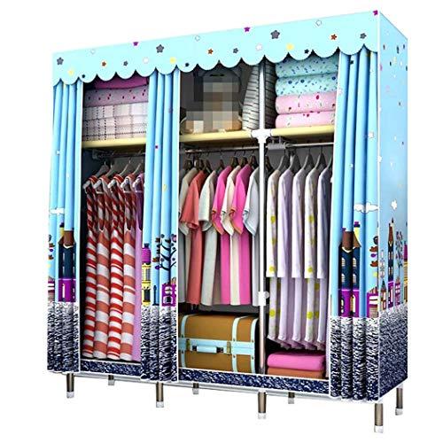 DPPAN Portable Storage Closet, verdicken Schattierung Tuch Kleidung Veranstalter Kleiderschrank Regale, Garment Organizer,C_70