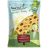 Food to Live Aros de manzana seca Bio certificados (Eco, Ecológico, sin OMG Kosher) 2.3 Kg