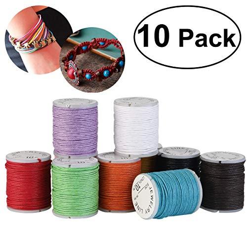 10 Rollos Cuerda Hilo Nylon Elástico Cordón Collar