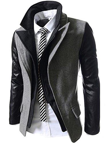 Brinny Winter Mode Explosion Modelle Dicke Warme Baumwolle Mantel Big Meter Männer Männer Koreanischen Männer Kapuzen Sweater Jacke Hellgrau