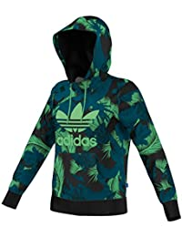 Adidas pull à capuche avec trèfle adidas pull à capuche avec logo