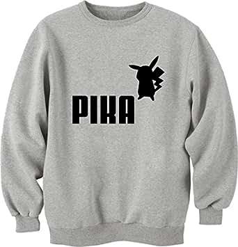 Pikachu Puma logo Unisex Crewneck Sweatshirt Large