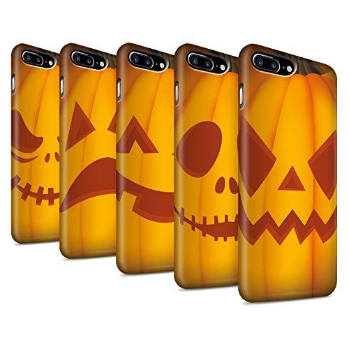 STUFF4 Matte Snap-On Hülle / Case für Apple iPhone 8 Plus / Traurig Muster / Halloween Kürbis Kollektion Pack 5pcs
