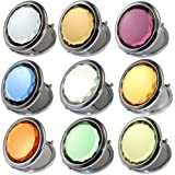 Kolight Double Sides (One Is Normal,Another Is Magnifying)Portable Foldable Pocket Metal Makeup Compact Mirror Woman Cosmetic Mirror (White)