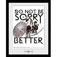 GB eye Ltd God of War, Don 't Be Sorry Kunstdruck, gerahmt, 30x 40cm, Holz, Verschiedene, 52x 44x 3cm