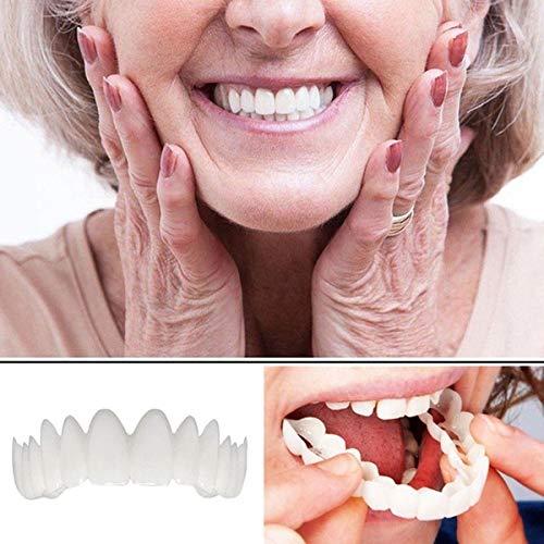 Beauty ZQ 20 Stücke untere Reihe weiße Prothese perfekten sofortigen Lächeln Komfort geeignet für Flexible Zähne Prothese Make-up Furnier Zahn Abdeckung Schönheit Werkzeuge -