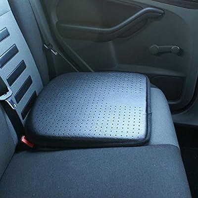 Hardcastle Leather Look Car Seat Cushion - Black - inexpensive UK light shop.
