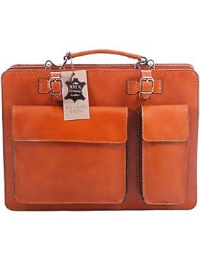 Männerarbeit Bag, Box Italienisch und Document Organizer, 100% echtes Leder Made in Italy