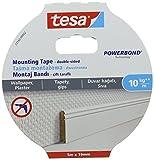 tesa 77743–00002–00SMS Permanent Doppelseitiges Montage-Klebeband für strukturierte Oberflächen, Weiß