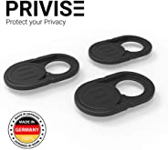Privise Webcam Abdeckung, Made in Germany, Webcam Cover für MacBook Pro, Laptop, Smartphone, Tablet, iPad, Ultra Dünn, 3er-Se
