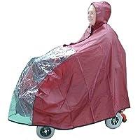 Kozee Komforts impermeable capa de Scooter para personas con movilidad reducida con ver a través de Panel, resistente al agua Universal Fit Poncho para pequeñas/para 3y 4Rueda Scooter, cubre scooter y Rider