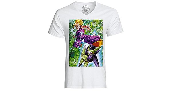 T-shirt enfant dragon ball z gohan contre cell dbz sangohan