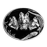 Hebilla de tres cabezas de lobo - Lobo, lobo - hebilla para cinturón