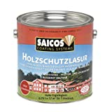 Saicos 0030 301 Holzschutzlasur schwedenrot 0.75 Liter