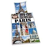 Herding 445965050 Bettwäsche Paris, Kopfkissenbezug: 80 x 80 cm mit Bettbezug: 135 x 200 cm, 100% Baumwolle, Renforce