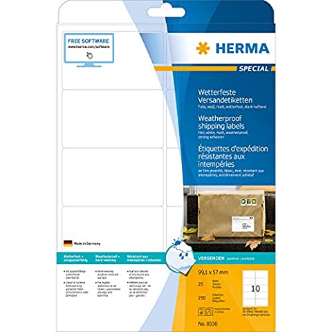 HERMA 8330 Shipping labels weatherproof A4 99,1x57 mm white strong