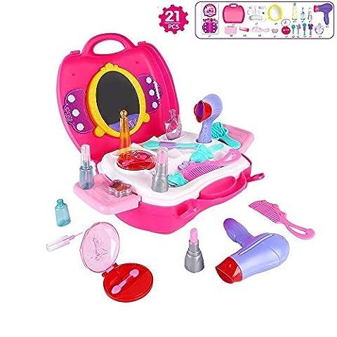 Pretend Makeup Set,IBanana 21Pcs Girls Kids Children Pretend Play Hair