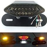 Ocamo für Harley Motorrad Integrierte LED Rückleuchten Blinker Bremslicht Kennzeichenbeleuchtung Rücklicht