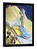 Gerahmtes Bild von Vincent van Gogh Stilleben mit einer Gips-Figur, Kunstdruck im hochwertigen handgefertigten Bilder-Rahmen, 50x70 cm, Schwarz matt