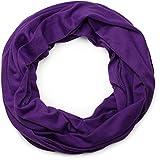 styleBREAKER unifarbener Jersey Loop Schlauchschal, Schal, Tuch, Unisex 01016115, Farbe:Lila