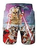 Fanient Pantaloncini da Bagno da Uomo Ragazzi Tronchi da Nuoto da Uomo Stampa 3D Gatti da Bagno grafici Pantaloncini da Snowboard Quick Dry con Fodera per Le Vacanze estive Casual