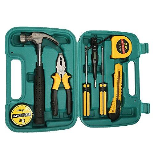 EBTOOLS Kit tournevis noir pour outil de r/églage de carburateur 8pcs avec brosse en cuir