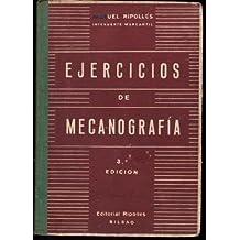 EJERCICIOS DE MECANOGRAFIA.Metodo Practico Maquina de Escribir al Tacto