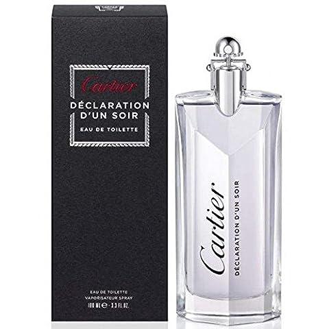 Cartier Declaration D'Un Soir Eau de Toilette Spray, 100 ml