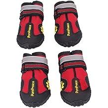 """Malloom® Animales Antideslizante impermeables botas para medianas y grandes zapatos Perros Labrador Husky, Rojo (7 Largo:8CM/3.14"""" Ancho:7CM/2.75"""", rojo)"""
