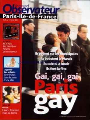 NOUVEL OBSERVATEUR (LE) [No 1892] du 08/02/2001 - PARIS GAY - VAL-DE-MARNE - LES DERNIERES HEURES DU CONVOYEUR - L'AGENDA DES ENFANTS - PARIS 20 EME - MUSCU - FITNESS ET VICES DE FORME
