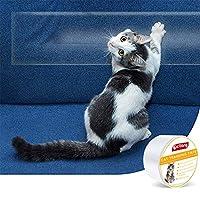 Anself Anti-scratch Cat Tape Cat Scratch Deterrent Tape Clear Double-Sided Cat Training Tape