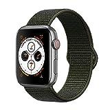 Corki pour Bracelet Apple Watch 38mm 40mm, Nylon Bracelet de Remplacement Bande pour Apple Watch iWatch Séries 4 (40mm), Séries 3/ Séries 2/ Séries 1 (38mm), Kaki Cargo