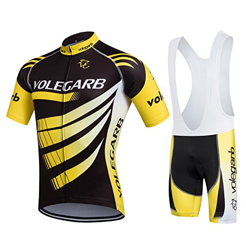 Maillot Conjunto Mangas Cortas de Ciclismo,Ropa Conjunta de Ciclismo Culotte Ciclismo Hombre Traje Maillot Camiseta + Pantalones para Bicicleta