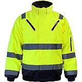 Warnschutzjacke Arbeitsjacke Regenjacke Pilotenjacke Gr. S - XXXXL
