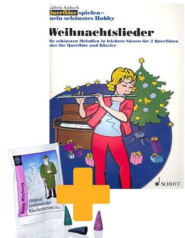 Cathrin Ambach: Querflöte spielen mein schönstes Hobby - Weihnachtslieder - Die schönsten Melodien in leichten Sätzen für 2 Querflöten oder für Querflöte und Klavier - inkl. 5 Räucherkerzen [Musiknoten]