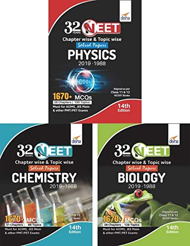 32 Years NEET Chapter-wise & Topic-wise Solved Papers Physics, Chemistry & Biology (2019 - 1988) 14th Edition