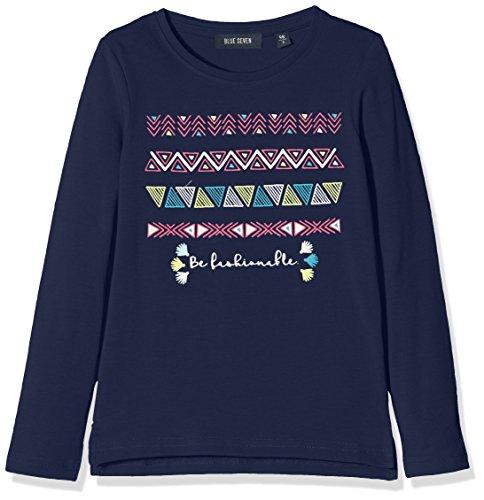 blue seven Mädchen Longsleeve Mit Ethnomotiv UND Glitzer, Camiseta Para Niños blue seven