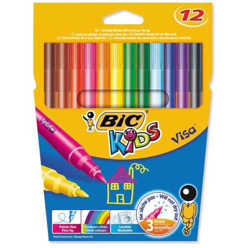 1x-bic-kids-visa-fine-tip-felt-pens-pack-12-vivid-colours-colouring-pens